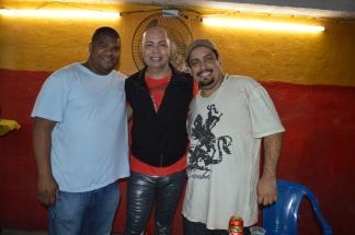 Presidente Bira, carnavalesco Cid Carvalho e diretor artístico Will Fernandes. Foto: Adriana Vieira