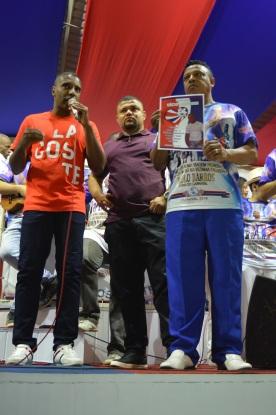 Presidente de honra, Marcus Vinícius, presidente David dos Santos, e intérprete Marcelinho
