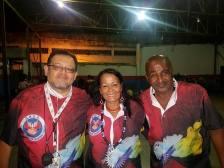 Diretor de Carnaval Marcos Sacramento, Presidente Betinha e o Diretor Beija-Flor