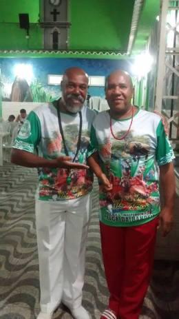 Antônio Simão, Diretor de Harmonia, e Ricardo Paulino, Carnavalesco