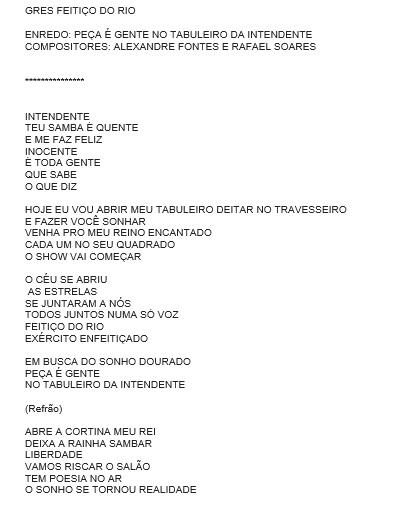 Samba 05 Feitiço