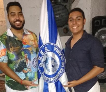Carnavalescos Vinicius Nascimento e Guilherme Estevão