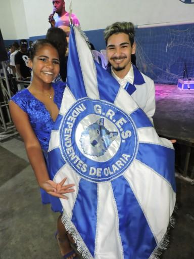 2º Casal de mestre sala e porta bandeira da Independentes