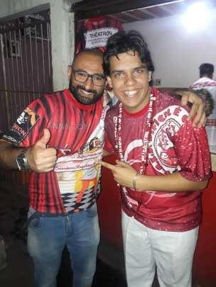 Carnavalesco Jorge Bahia e Vice-Presidente de Carnaval Gabriel Macedo