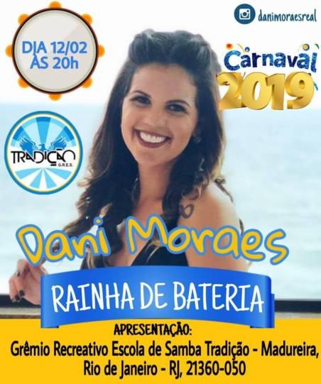 Dani Moraes Rainha de Bateria