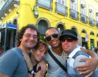 Da direita pra esquerda com os amigos e profissionais de Coreografia Massiva Alberto Carminagi e Renata Vieitas, Eu e meu amado Eddie Vincze
