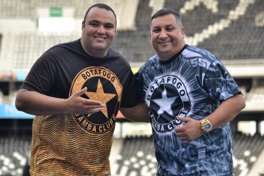 Chicão e o presidente Sandro Lima